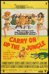 4c284 CARRY ON UP THE JUNGLE Aust 1sh 1970 Gerald Thomas, English sex in Africa, wacky art!