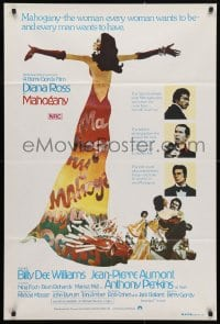 4c291 MAHOGANY Aust 1sh 1975 cool art of Diana Ross, Billy Dee Williams, Anthony Perkins, Aumont