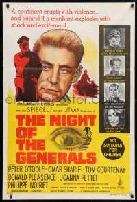 4c293 NIGHT OF THE GENERALS Aust 1sh 1967 WWII officer Peter O'Toole in manhunt across Europe!