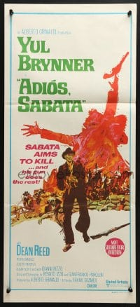4c305 ADIOS SABATA Aust daybill 1971 Yul Brynner aims to kill, and his gun does the rest!
