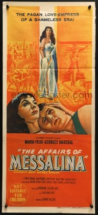 4c311 AFFAIRS OF MESSALINA Aust daybill 1953 sexy Maria Felix as history's most wicked woman!