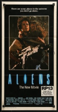 4c317 ALIENS Aust daybill 1986 there are some places in the universe you don't go alone!