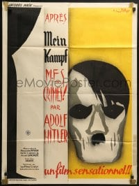 4c001 MY CRIMES AFTER MEIN KAMPF French 24x32 R1945 different art of Adolf Hitler, ultra-rare!
