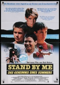 4c241 STAND BY ME German 1986 Phoenix, Feldman, O'Connell, Wheaton, Sutherland, Dreyfuss