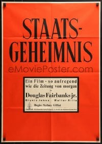 4c243 STATE SECRET red style German 1950 Douglas Fairbanks Jr. & Glynis Johns in The Great Man-Hunt!