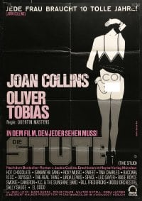 4c245 STUD German 1979 Joan Collins, from Jackie Collins novel, sexy art by George Morf!