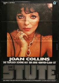 4c246 STUD teaser German 1979 Joan Collins, from Jackie Collins novel, sexy art by George Morf!