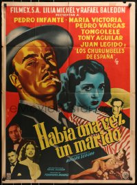 4c039 HABIA UNA VEZ UN MARIDO Mexican poster 1953 great sexy Francisco Diaz Moffitt art!