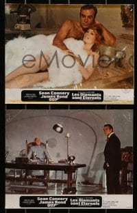 4c002 DIAMONDS ARE FOREVER 11 French LCs 1971 Sean Connery as James Bond 007, Jill St. John!