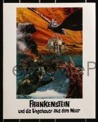4c009 GODZILLA VS. THE SEA MONSTER 12 German LCs 1969 Gojira, Ebira, Mosura: Nankai no daiketto!