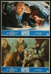 4c013 ABYSS 8 Spanish LCs 1989 directed by James Cameron, underwater thriller!