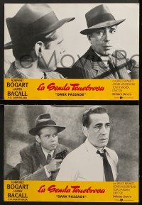 4c019 DARK PASSAGE 8 Spanish LCs R1990s great images of Humphrey Bogart & sexy Lauren Bacall!