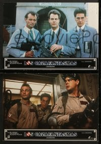 4c021 GHOSTBUSTERS 12 Spanish LCs 1984 Bill Murray, Dan Aykroyd & Harold Ramis here to save the world!