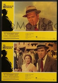 4c025 MAN WHO KNEW TOO MUCH 12 Spanish LCs R1980s Alfred Hitchcock, Jimmy Stewart & Doris Day!