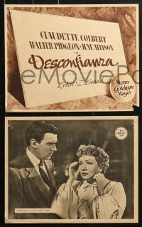 4c031 SECRET HEART 13 Spanish LCs 1948 Claudette Colbert's love for Walter Pidgeon leads to disaster!