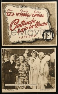 4c032 SINGIN' IN THE RAIN 13 Spanish LCs 1953 Gene Kelly, Donald O'Connor & Debbie Reynolds!