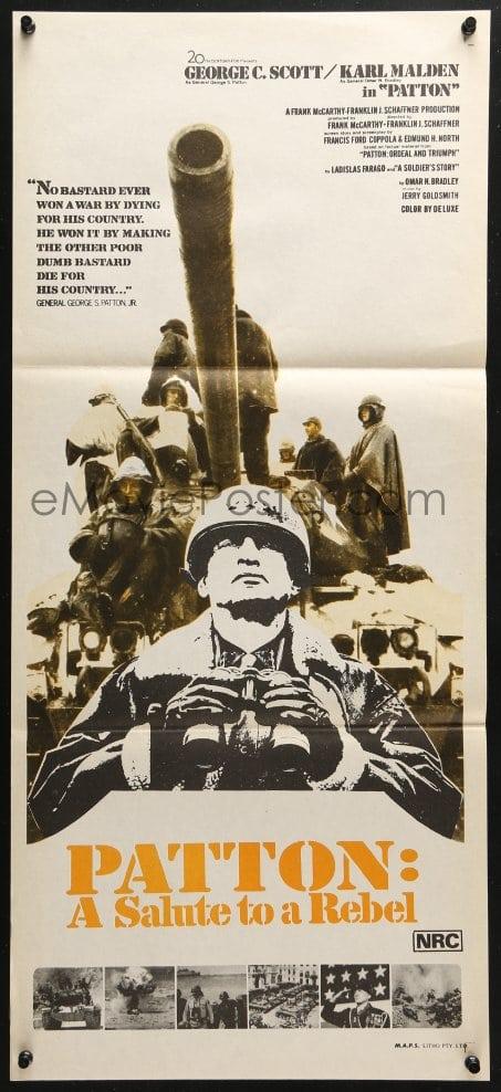 eMoviePoster com: 4c782 PATTON Aust daybill 1970 General