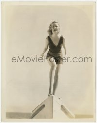 4d075 24 HOURS  8x10.25 still 1931 Miriam Hopkins in swimsuit on front of boat by Otto Dyar!