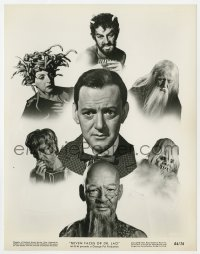 4d078 7 FACES OF DR. LAO  8x10.25 still 1964 great montage of all 7 characters Tony Randall plays!