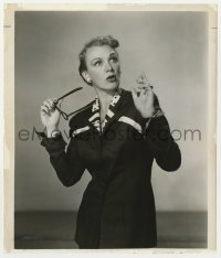 4d331 EVE ARDEN  8.25x9.75 still 1953 close up looking surprised after removing her glasses!
