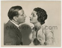 4d338 FALSE MADONNA  8x10 key book still 1931 great c/u of Kay Francis considering kissing Tearle!