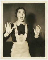4d339 FANNY BRICE  8x10 still 1938 great wacky portrait in maid costume from Everybody Sing!