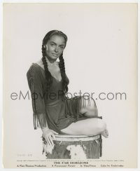 4d343 FAR HORIZONS  8.25x10 still 1955 portrait of Donna Reed as Native American Indian Sacajawea!