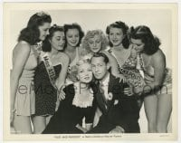 4d344 FAST & FURIOUS  8x10.25 still 1939 Franchot Tone & Ann Sothern w/ sexy beauty pageant girls!