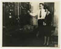 4d346 FAY WRAY  7.75x10 still 1930s w/engineer in the amplifying room of the Paramount sound stage!