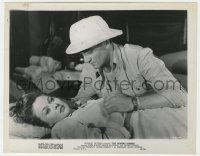 4d350 FIGHTING SEABEES  8x10.25 still R1948 John Wayne in pith helmet over Susan Hayward laying down!