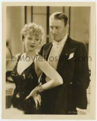 4d355 FOLIES-BERGERE  8x10.25 still 1935 great close up of sexy Ann Sothern & Maurice Chevalier!