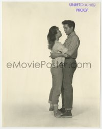 4d356 FOLLOW THAT DREAM deluxe 7.5x9.5 still 1962 unretouched proof of Elvis Presley & Anne Helm!