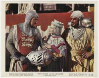 4d044 KING RICHARD & THE CRUSADERS color 8x10 still #1 1954 Virginia Mayo, Rex Harrison & Sanders!