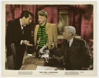 4d051 ONCE UPON A HONEYMOON color 8x10 still 1942 Ginger Rogers, Cary Grant & jeweler Harry Shannon!