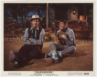 4d053 PARDNERS color 8x10 still 1956 cowboys Jerry Lewis & Dean Martin sitting on the ground!