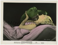 4d054 RAINS OF RANCHIPUR color 8x10 still 1955 tubaned Richard Burton nuzzling sexy Lana Turner!