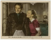 4d061 SUEZ color 8x10 still 1938 close up of Tyrone Power with pretty Annabella!