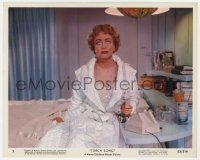 4d066 TORCH SONG color 8x10 still #3 1953 close up of worried Joan Crawford holding phone!