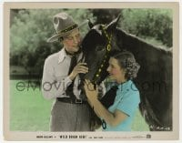 4d071 WILD BRIAN KENT color 8x10.25 still 1936 Ralph Bellamy with horse & pretty Mae Clarke!