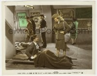 4d073 YANK IN THE R.A.F. color 8x10 still 1941 Tyrone Power fakes injury to talk to Betty Grable!