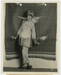 4d348 FIFI D'ORSAY deluxe 8x10 still 1920s the Fox star wearing Chinese clothing & raised shoes!