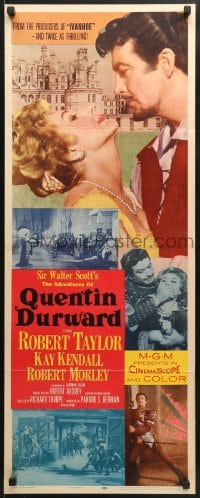 4f006 ADVENTURES OF QUENTIN DURWARD insert 1955 English hero Robert Taylor romances Kay Kendall!