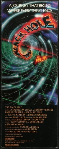4f021 BLACK HOLE insert 1979 Disney sci-fi, cool art of Schell, Anthony Perkins, Robert Forster!