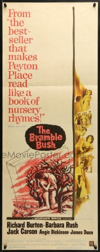 4f028 BRAMBLE BUSH insert 1960 Angie Dickinson, Burton, makes Peyton Place look like nursery rhymes!
