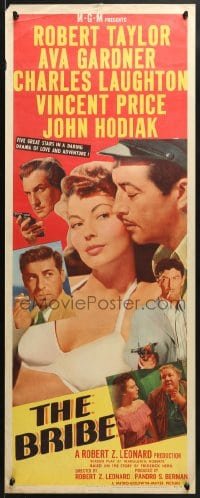 4f031 BRIBE insert 1949 Robert Taylor, sexy Ava Gardner, Charles Laughton, Vincent Price