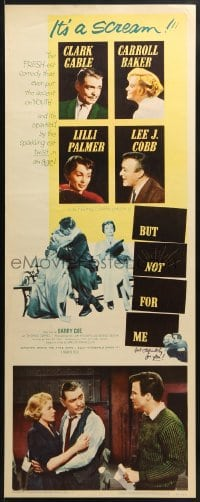 4f034 BUT NOT FOR ME insert 1959 Clark Gable, Carroll Baker, Lilli Palmer, Lee J. Cobb!