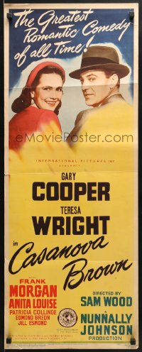 4f040 CASANOVA BROWN insert 1944 great lover Gary Cooper loves Teresa Wright!