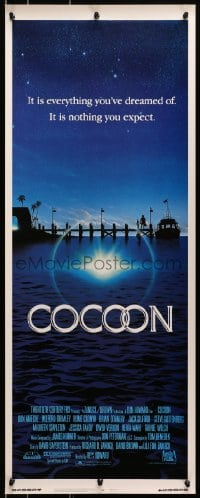 4f049 COCOON int'l insert 1985 Ron Howard classic sci-fi, great artwork by John Alvin!