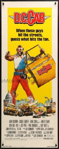 4f058 D.C. CAB insert 1983 great Drew Struzan art of angry Mr. T with torn-off cab door!