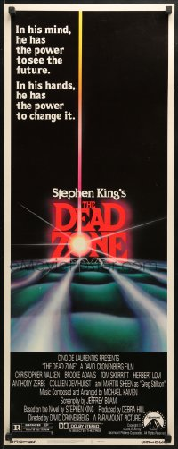 4f061 DEAD ZONE insert 1983 David Cronenberg, Stephen King, he has the power to see the future!